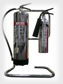Custom chrome extinguishers.
